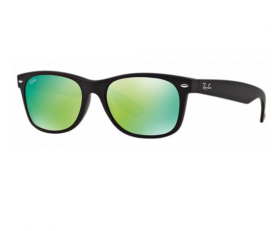 Ray Ban New Wayfarer Sunglasses In Rubber Black With